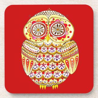Retro Owl Coasters - Set of 6