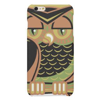 retro owl design matte iPhone 6 plus case