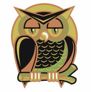 retro owl design photo cutout