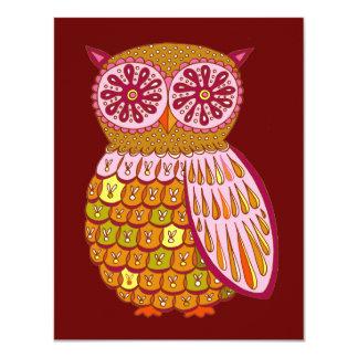 Retro Owl Invitations