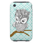 Retro Owl iPhone 3G/3GS Case iPhone 3 Tough Cover