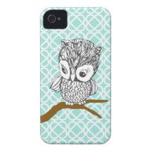 Retro Owl iPhone 4/4S Case Case-Mate iPhone 4 Cases