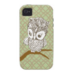 Retro Owl iPhone 4/4S Case iPhone 4 Case-Mate Cases