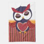 Retro Owl Kitchen Towel