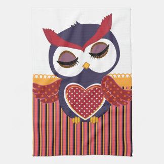 Retro Owl Kitchen Towels