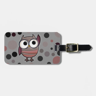 Retro Owl Bag Tags