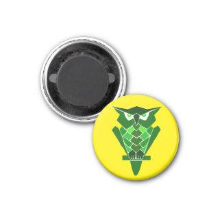 Retro Owl magnet (green)