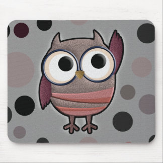 Retro Owl Mouse Pad
