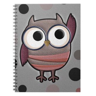 Retro Owl Notebook