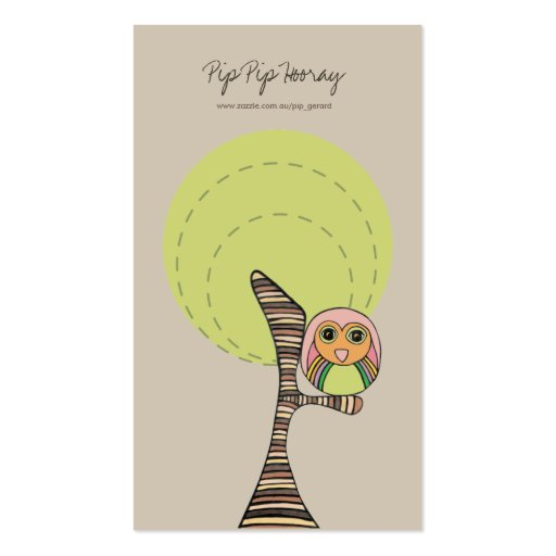 Retro Owl Online Store Business Profile Card Business Card