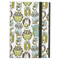 Retro Owl pattern cute funny background iPad Air Cover