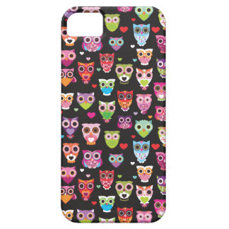 Retro owl pattern for kids iphone case