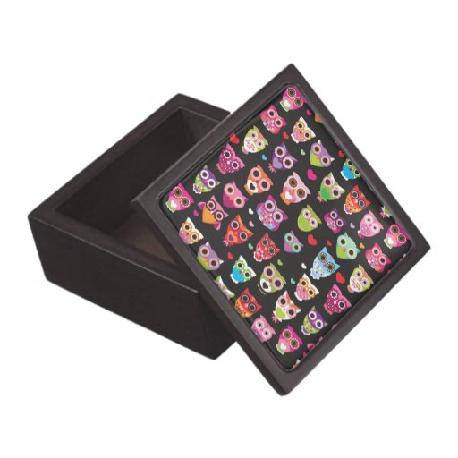 Retro owl pattern giftbox premium jewelry boxes