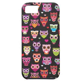 Retro owl pattern illustration iPhone 5 cases