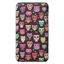 Retro owl pattern illustration iPod Case-Mate case