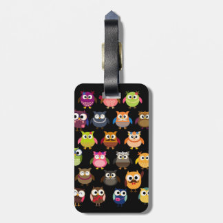 Retro Owl Pattern Tags For Bags