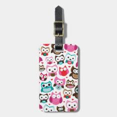 Retro Owl Pattern Luggage Travel Tags at Zazzle
