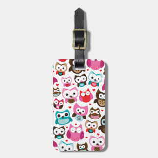 Retro owl pattern luggage travel tags