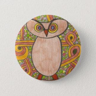 Retro Owl Pinback Button