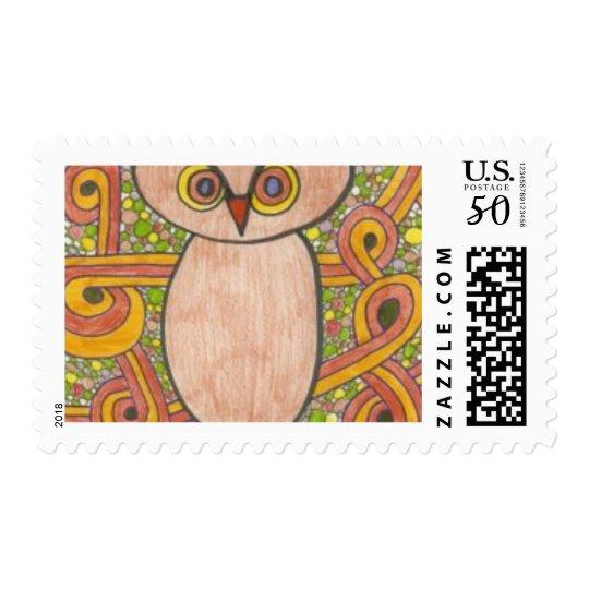 Retro Owl Postage