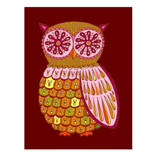 Retro Owl Postcards