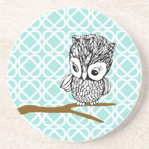 Retro Owl Sandstone Coaster