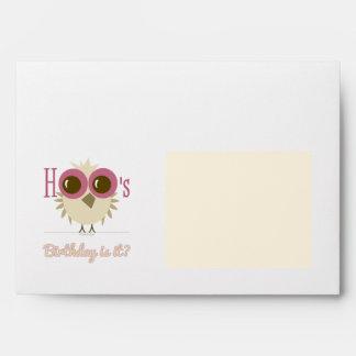 Retro Owl Seal Envelopes Birthday Party Invitation
