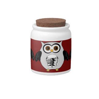 Retro Owl Skeleton Candy Jars