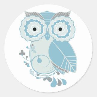 Retro Owl Stickers