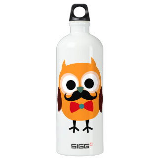 Retro Owl with Handlebar Mustache Moustache SIGG Traveler 1.0L Water Bottle