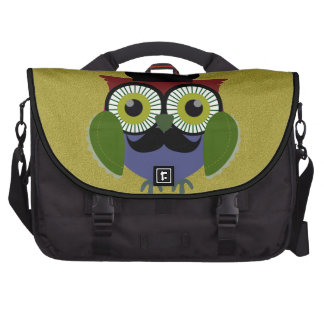 Retro Owl with Mustache Commuter Bag