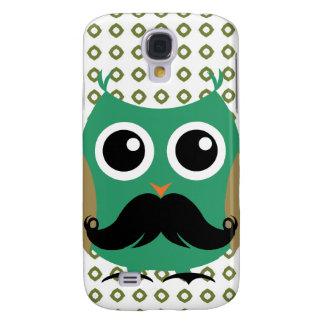 Retro Owl with Mustache Moustache Stache Samsung Galaxy S4 Covers