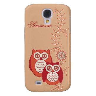 Retro Owls 3G/3GS  Galaxy S4 Cases