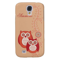 Retro Owls 3G/3GS  Samsung Galaxy S4 Cover