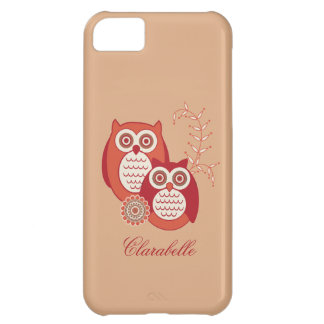 Retro Owls Cover For iPhone 5C