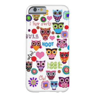 Retro Owls Barely There iPhone 6 Case