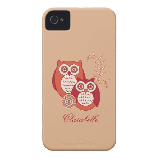 Retro Owls Case-Mate ID Case-Mate iPhone 4 Case
