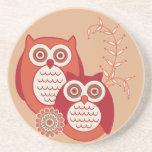 Retro Owls Coaster