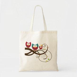 Retro Owls Eco Friendly Tote Bag