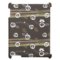 Retro Owls Family Cute Whimsical Stripes Nest Fun Cover For The iPad 2 3 4