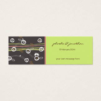 Retro Owls Family Save The Date Thank You Gift Tag