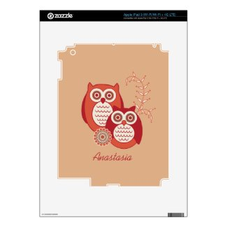 Retro Owls iPad Skin musicskins_skin