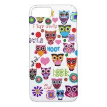 Retro Owls iPhone 7 Case