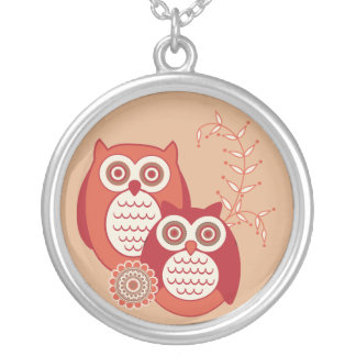 Retro Owls Necklace