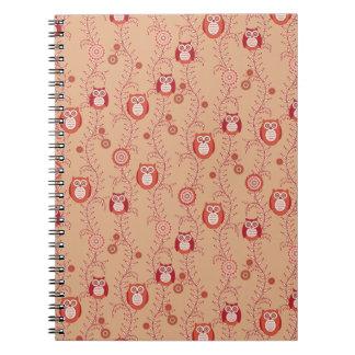 Retro Owls Notebook