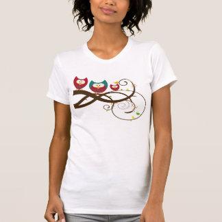 Retro Owls on Swirly Branch Shirt