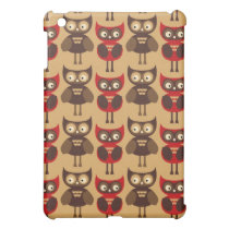 Retro owls pattern cover for the iPad mini