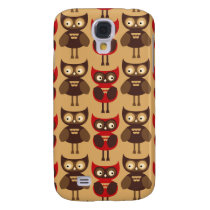 Retro owls pattern samsung galaxy s4 case