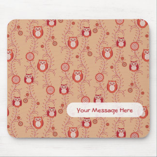 Retro Owls Patterned Mousepad