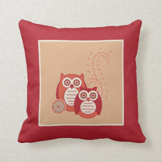 Retro Owls Pillow